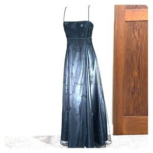 Black sequined prom dress. size 13/14